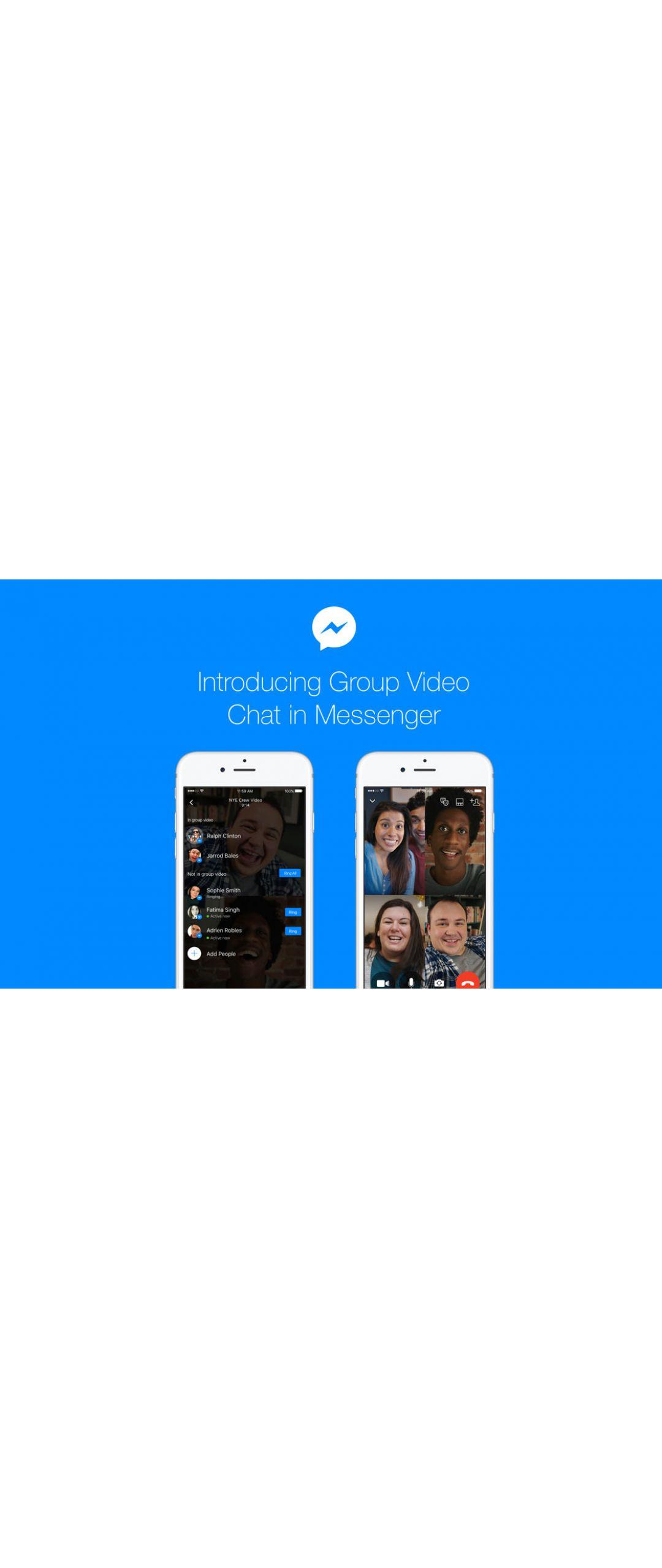 Facebook Messenger se actualiza para videollamar con hasta 50 personas