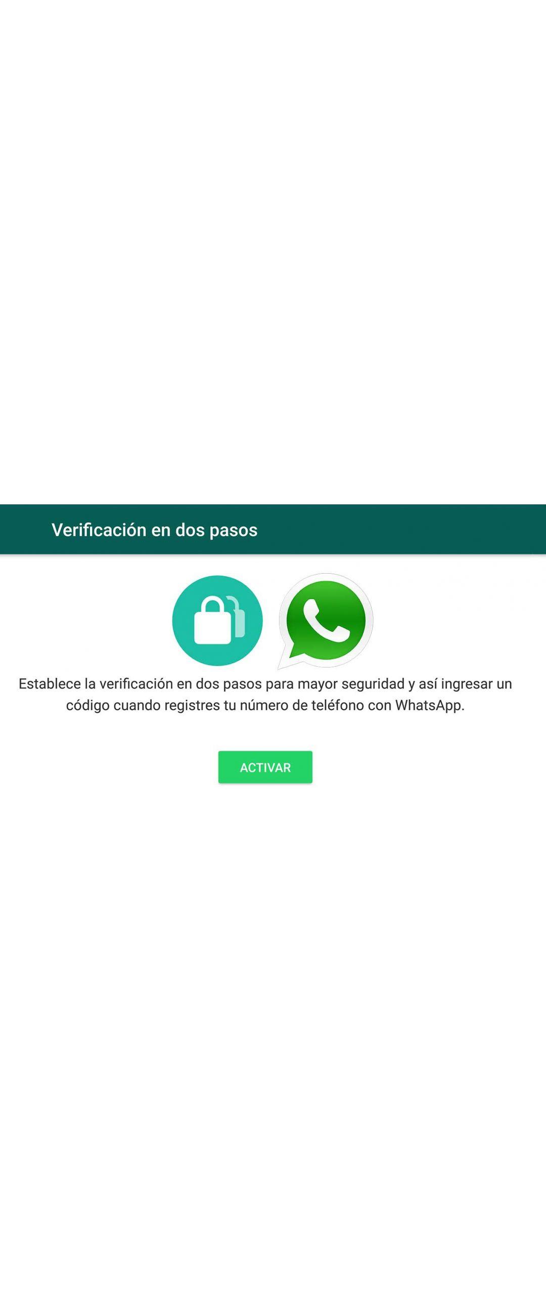 WhatsApp ahora cuenta con verificación de dos pasos