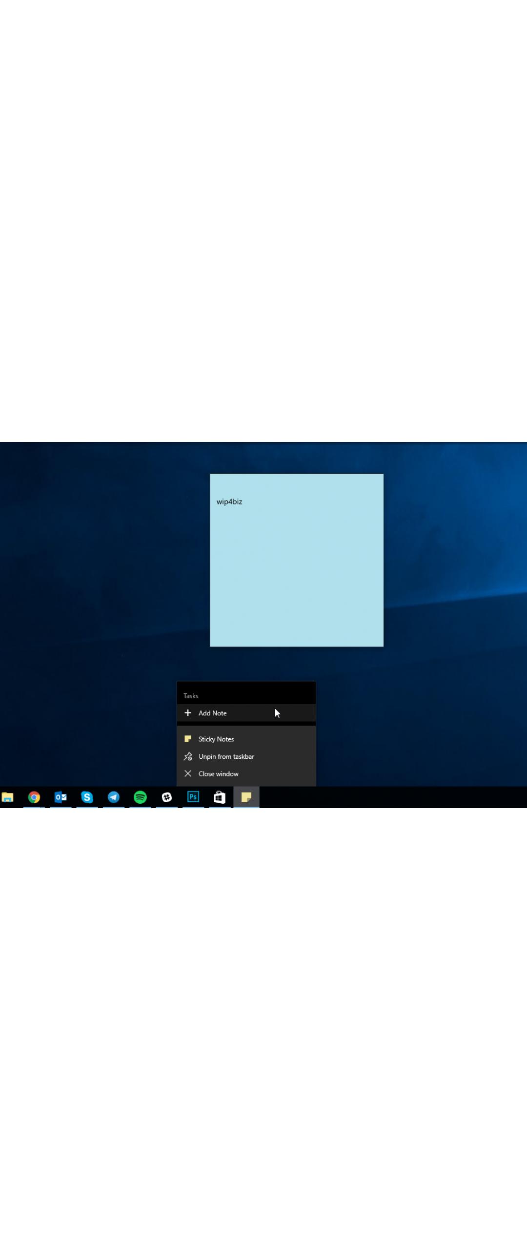 Ya puedes crear notas en Windows 10 desde la barra de tareas
