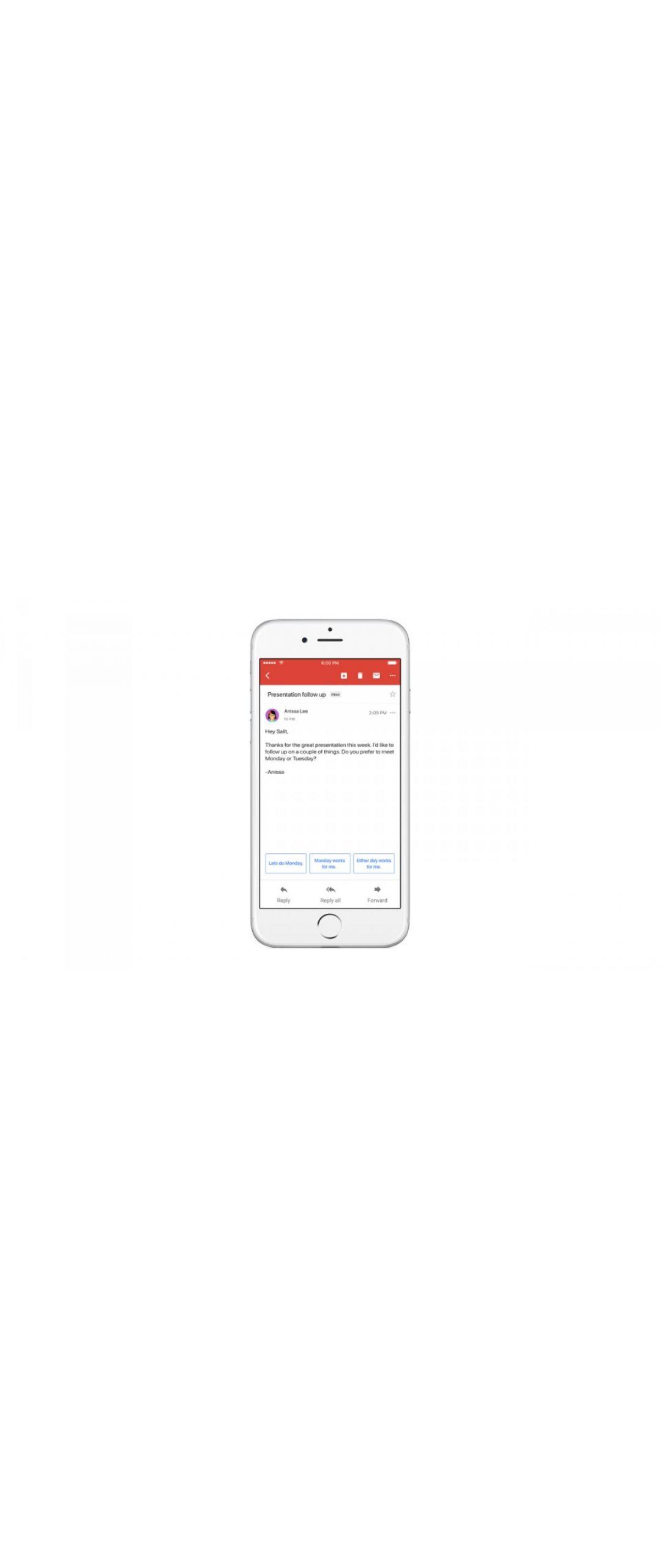 Gmail también tendrá respuestas inteligentes #IO2017
