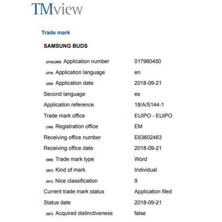 Samsung registra los Samsung Buds y nadie sabe qué son