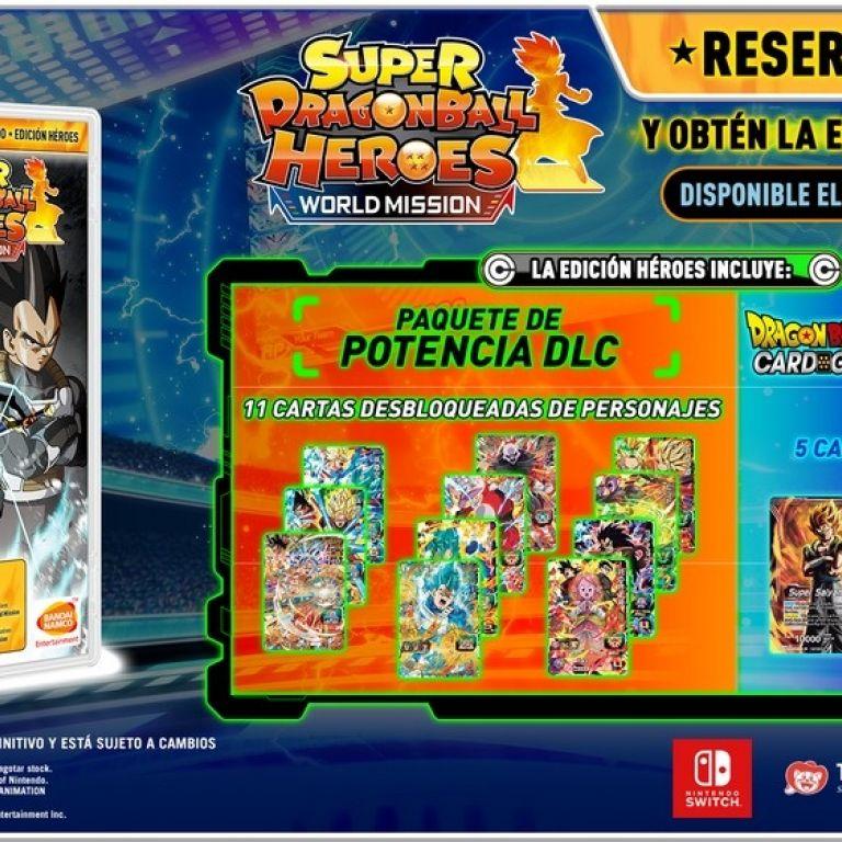 """Super Dragon Ball Heroes: World Mission tendrá una edición especial llamada """"Héroes"""""""