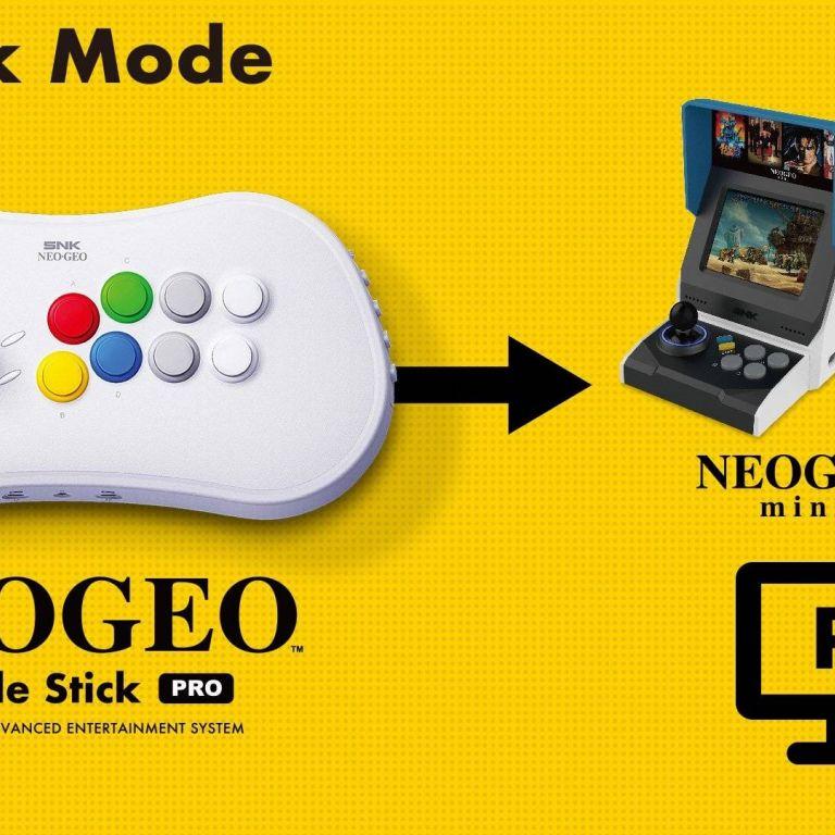 El Neo Geo Arcade Stick Pro es el complemento perfecto para su consola Mini