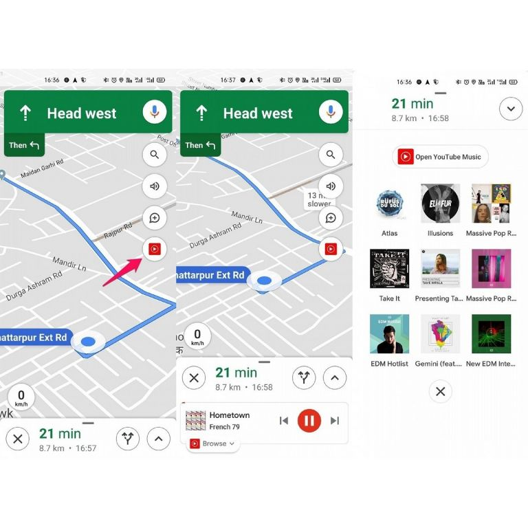 Google Maps: Ahora puedes integrar a YouTube Music mientras navegas