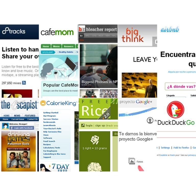 Los 50 mejores sitios del 2011