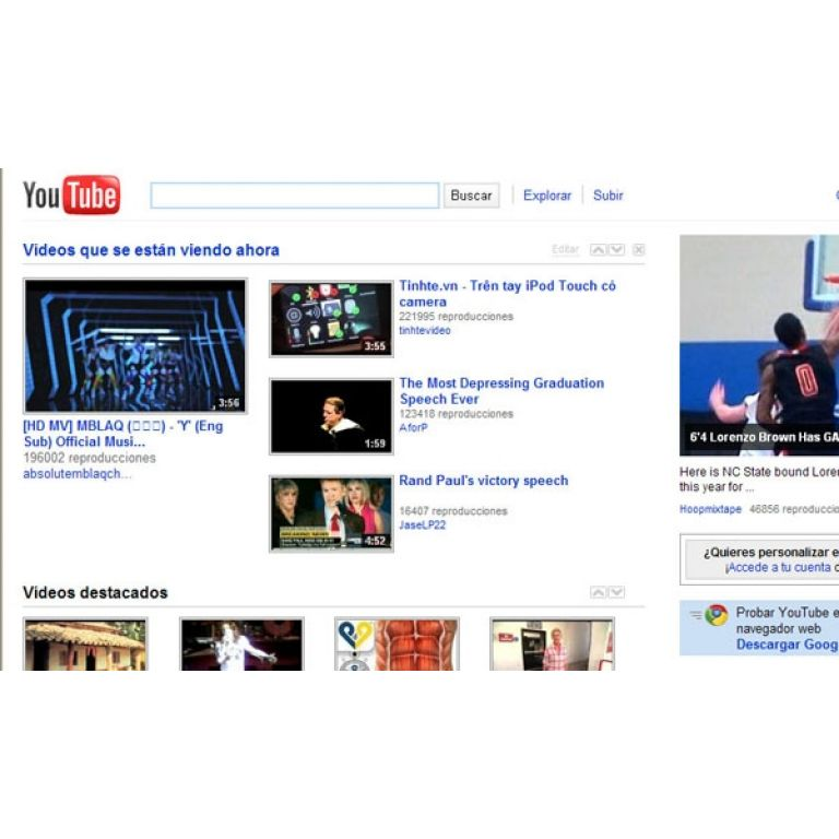 YouTube cambió el diseño de su página