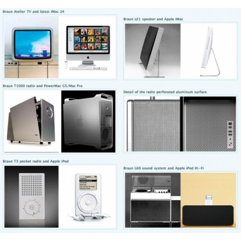 ¿Apple se inspira en viejos diseños de Braun?.