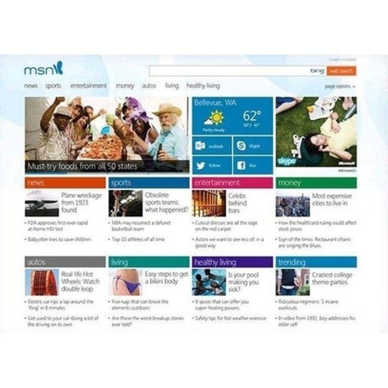 El renovado MSN para Windows 8.