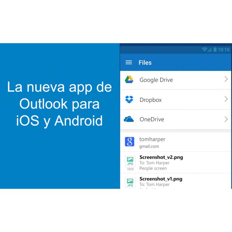 Nueva de versión de Outlook para Android e iOS