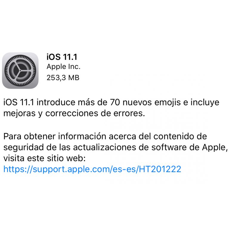 iOS 11.1 ya está disponible para su descarga