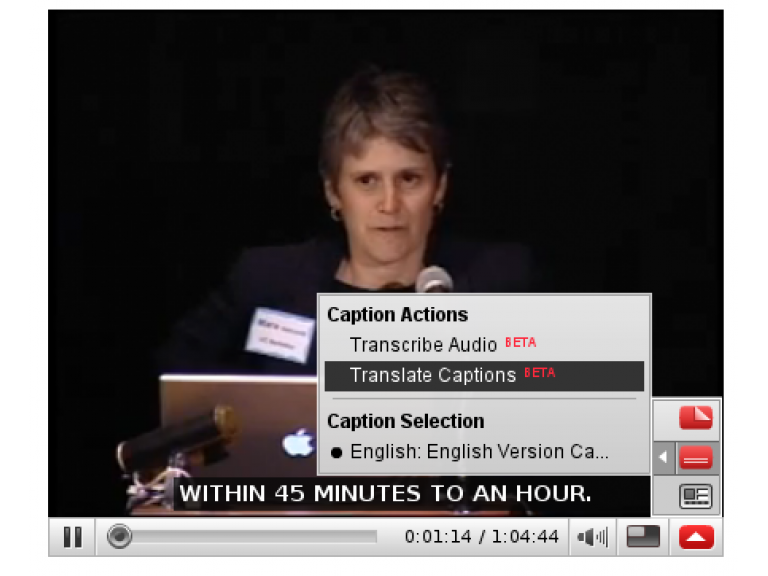 Youtube: Traducción de subtítulos a múltiples idiomas.