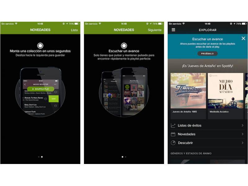 Touch Preview te permitir� reproducir breves extractos de canciones