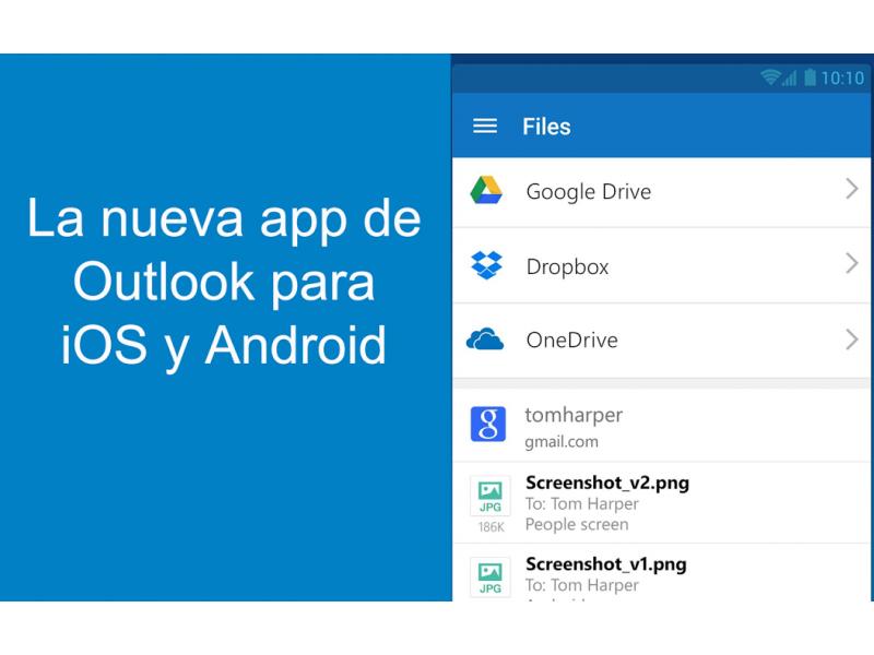 Nueva de versi�n de Outlook para Android e iOS