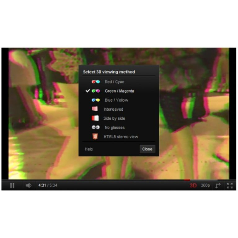 YouTube permite convertir videos normales en 3D