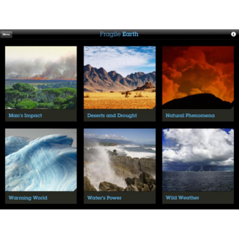 Fragile Earth, una app para conocer los efectos del cambio climático.