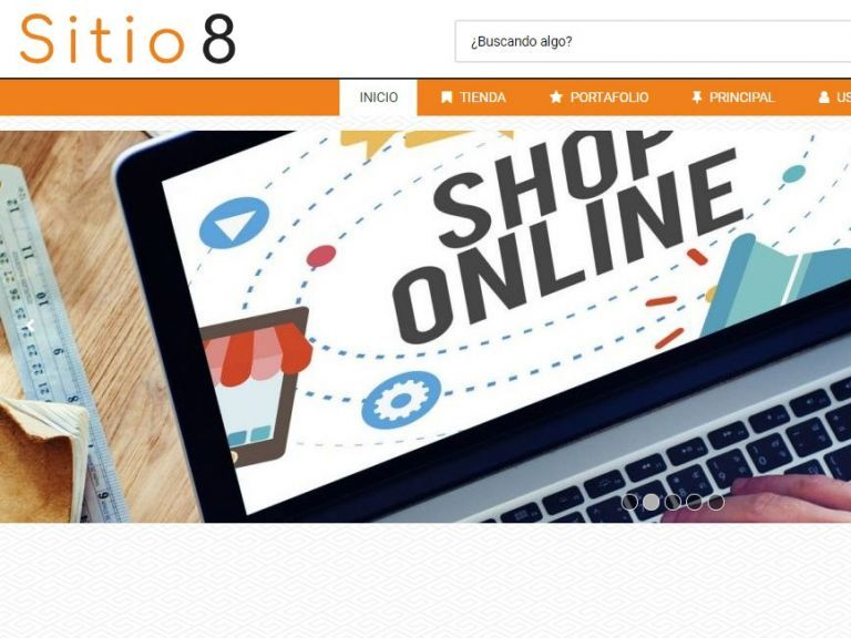 Demo 8 de plantilla de diseño web profesional para tienda virtual. - TIENDA 8 . tienda virtual