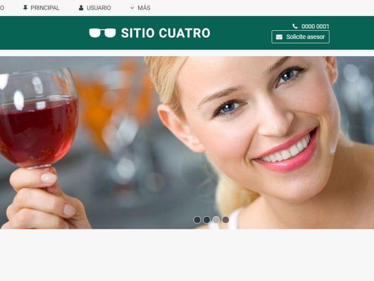 Ejemplo de diseño web para página de hotel. Demo 4. - HOTEL 4 . Diseño sitio web institucional