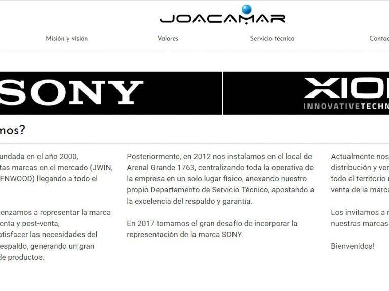 Joacamar, importador para Uruguay de SONY y XION. - Joacamar