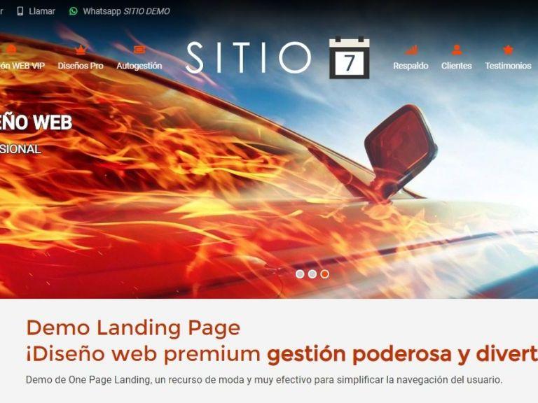 Landing page template número 7. - LANDING 7, Web landing page, diseño ejemplo profesional